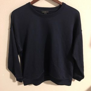 J Crew Navy Blue Crew Neck Pullover Size Small